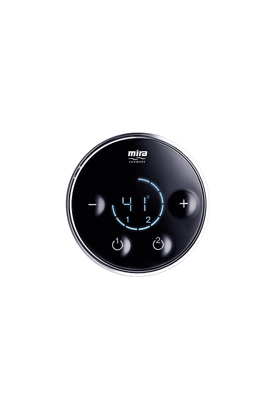 Mira Platinum Dual Rear Fed - Pumped for Gravity Digital Shower 1