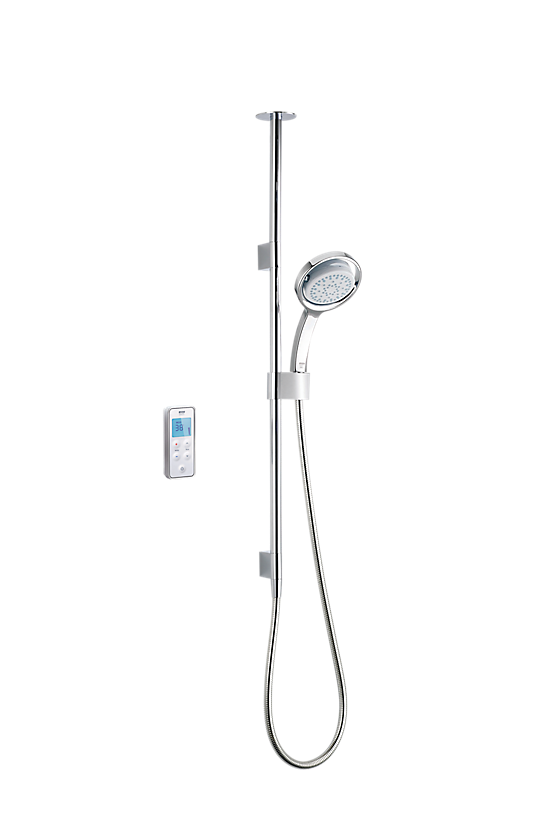 Mira Vision Ceiling Fed High Pressure Digital Shower - 1 - Showers Direct