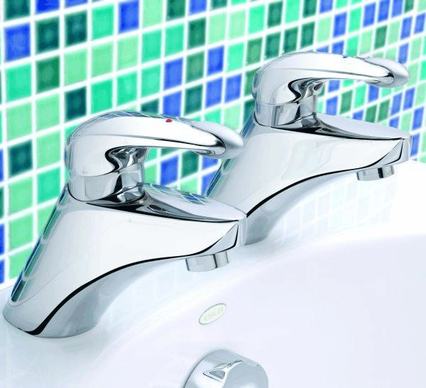 Mira Excel Basin Pillar Taps - 1 - Showers Direct