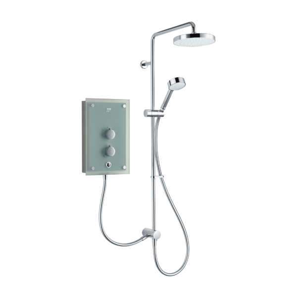 Mira Azora 9.8 kW Dual Electric Shower Frosted Glass - 1 - Showers Direct