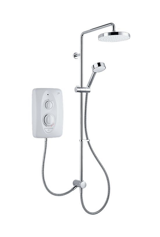 Mira Jump Multi-Fit 10.8kW Dual Electric Shower White/Chrome - 1 - Showers Direct
