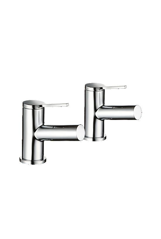 Mira Evolve Basin Pillar Taps - 1 - Showers Direct