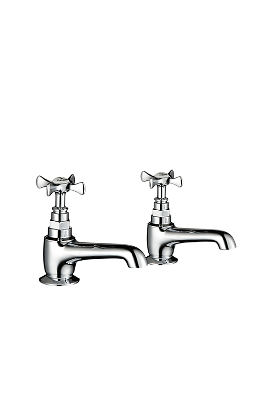 Mira Virtue Bath Pillar Taps - 1 - Showers Direct
