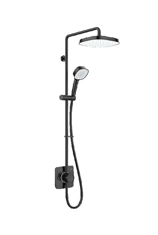 Mira Opero Dual Matt Black - 1 - Showers Direct